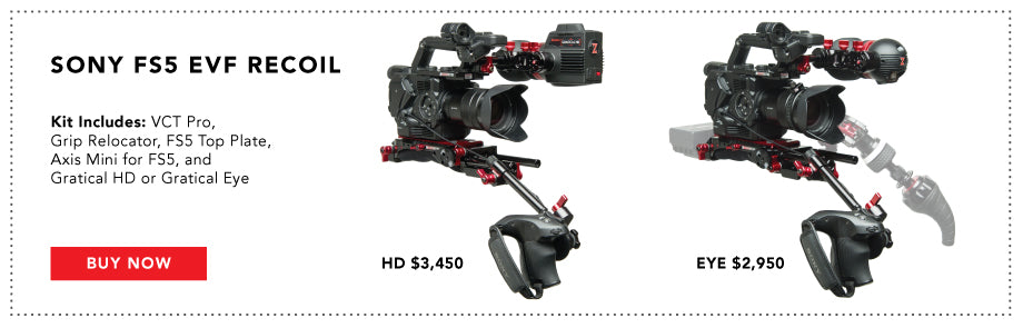 sony fs5 recoil bundle with evf