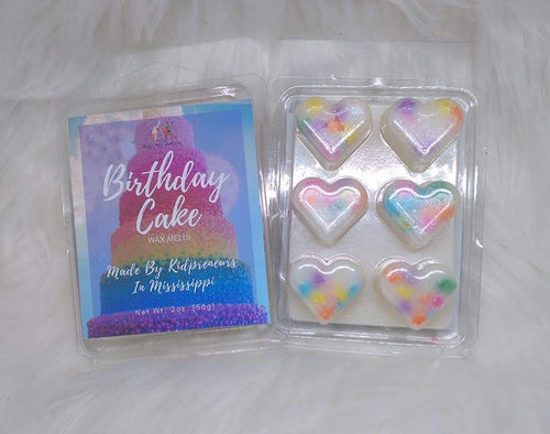 Birthday Cake Wax Melts - Three Girls Plus & Leggo My Candle