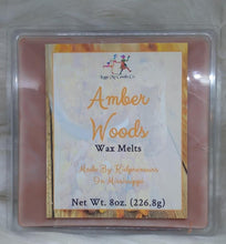 Load image into Gallery viewer, Amber Woods Wax Melts - Three Girls Plus & Leggo My Candle