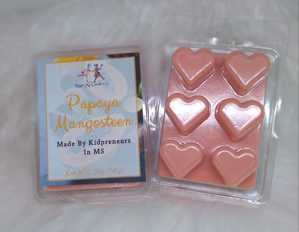 Papaya Mangosteen Wax Melts - Three Girls Plus & Leggo My Candle