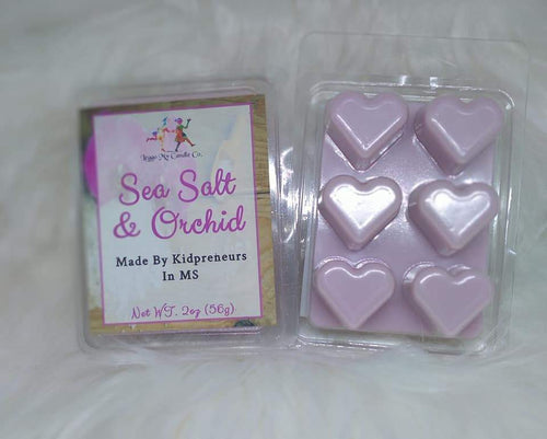 Sea Salt & Orchid Wax Melts - Three Girls Plus & Leggo My Candle