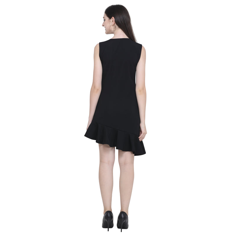Jull Midi Dress Sleeveless Polyester Black for Women