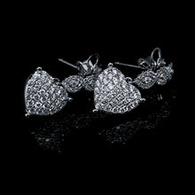 Load image into Gallery viewer, 2 in 1 Heart Diamond Dangling