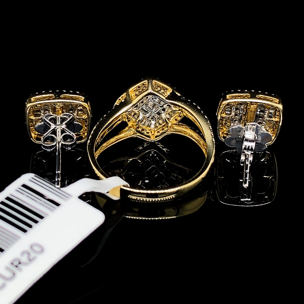 Medium Cushion Diamond Set