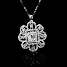 Load image into Gallery viewer, Floral Deco Diamond Necklace 14kt