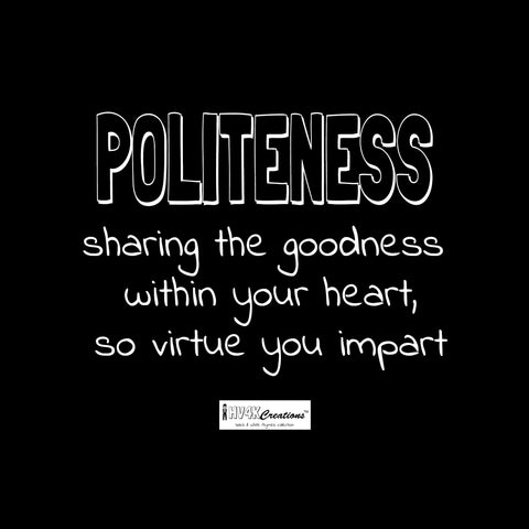politeness rhyme picture
