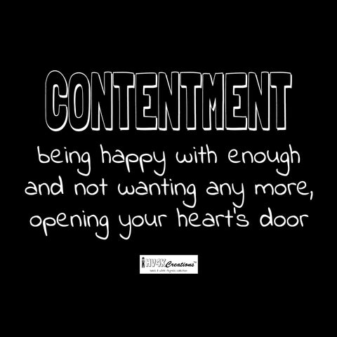 contentment rhyme picture