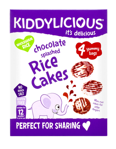 Splashed Chocolate Rice Cakes - Case of 4 Boxes