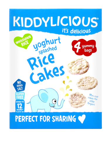 Splashed Yoghurt Rice Cakes - Case of 4 Boxes