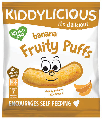 Banana Fruity Puffs - Box of 6 x 10g bags