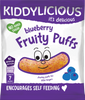 Blueberry Fruity Puffs - Box of 6 x 10g bags