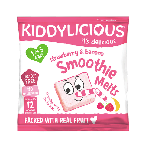 Strawberry & Banana Smoothie Melts - Box of 16 x 6g bags