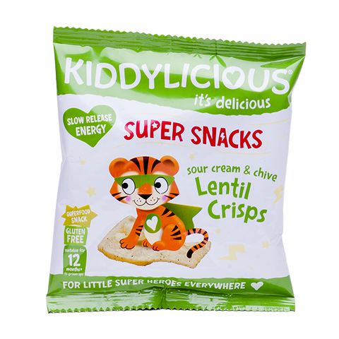Sour Cream & Chive Lentil Crisps - Box of 9 x 12g bags