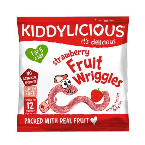 Strawberry Wriggles -  Box of 18 x 12g bags