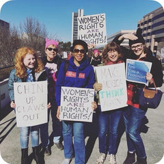 picture of women marching for women's rights and female empowerment