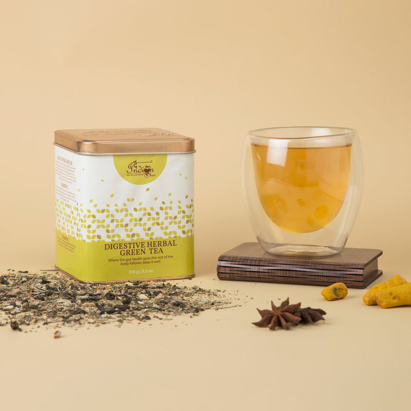 Digestive herbal green tea