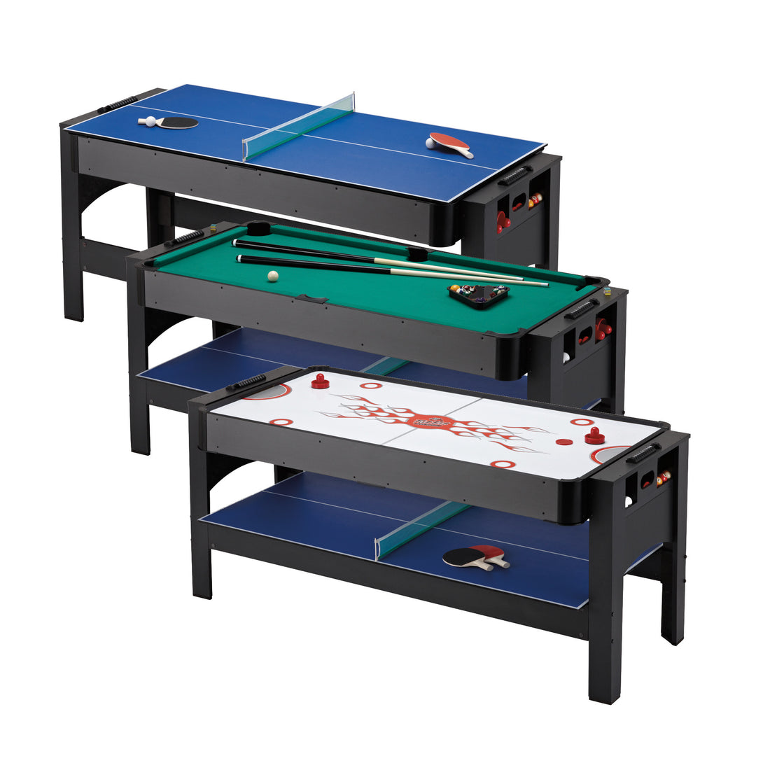 Fat Cat 3-in-1 6' Flip Multi-Game Table