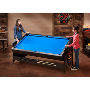 Fat Cat Original 3-in-1 7' Table Tennis/Pool/Air Hockey Pockey Multi-Game Table Blue