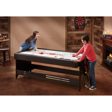 Fat Cat Original 3-in-1 7' Table Tennis/Pool/Air Hockey Pockey Multi-Game Table Red
