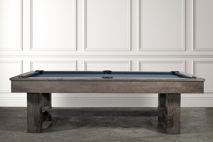 IRON SMYTH THE BRUISER 8' SLATE POOL TABLE IN CHARCOAL INCLUDES CHOICE OF CHAMPIONSHIP BILLIARD FELT