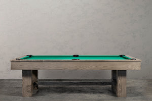 IRON SMYTH THE BRUISER 8' SLATE POOL TABLE IN SAND INCLUDES CHOICE OF CHAMPIONSHIP BILLIARD FELT