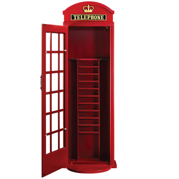 RAM Game Room Old English Telephone Booth Cue Holder