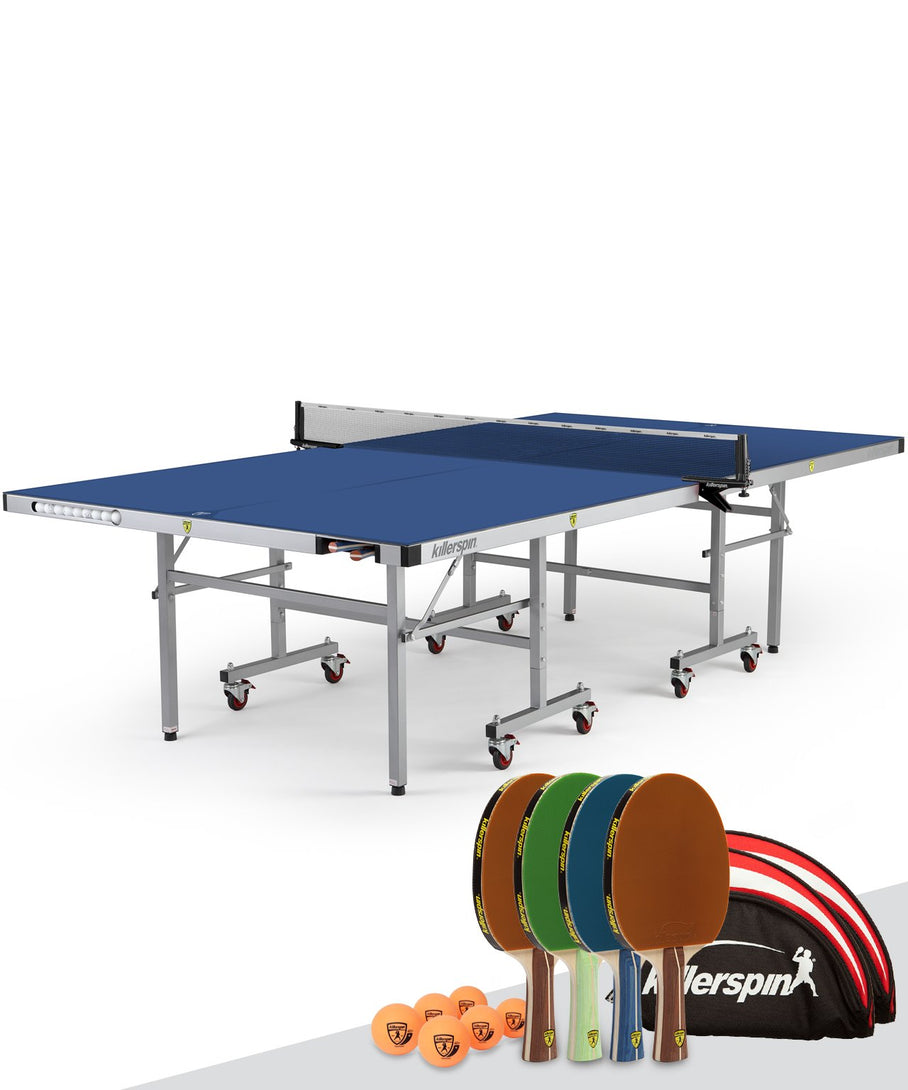 Killerspin Outdoor UnPlugNPlay Table Tennis Ping Pong Table Party Package