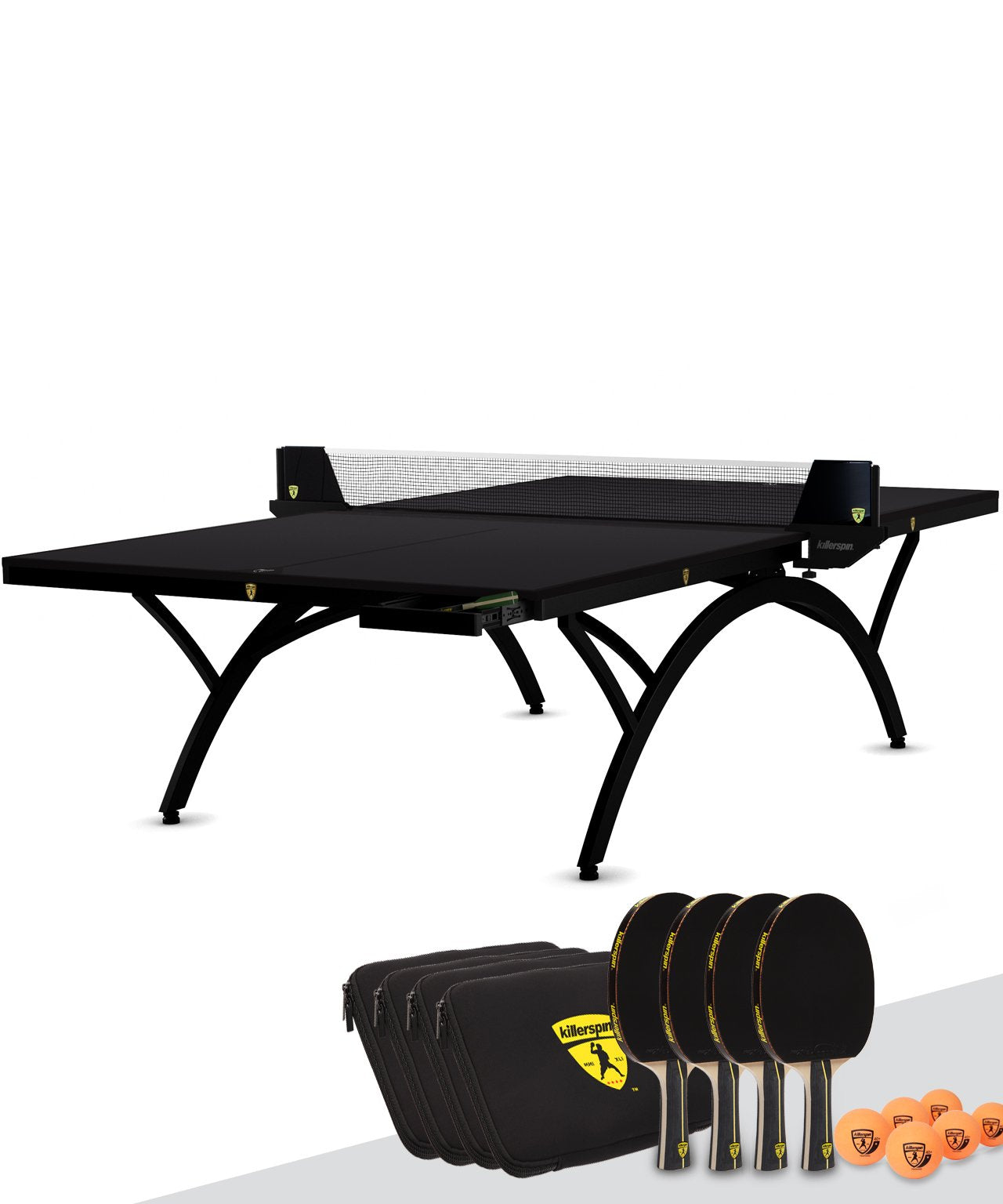 Killerspin SVR BlackWing Indoor Table Tennis Ping Pong Table Package