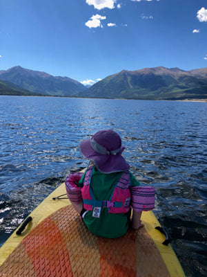 Paddle board twin lakes with kids