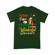 Load image into Gallery viewer, Foxhound Coffee Christmas It's The Most Wonderful Time Of The Year - Standard T-shirt