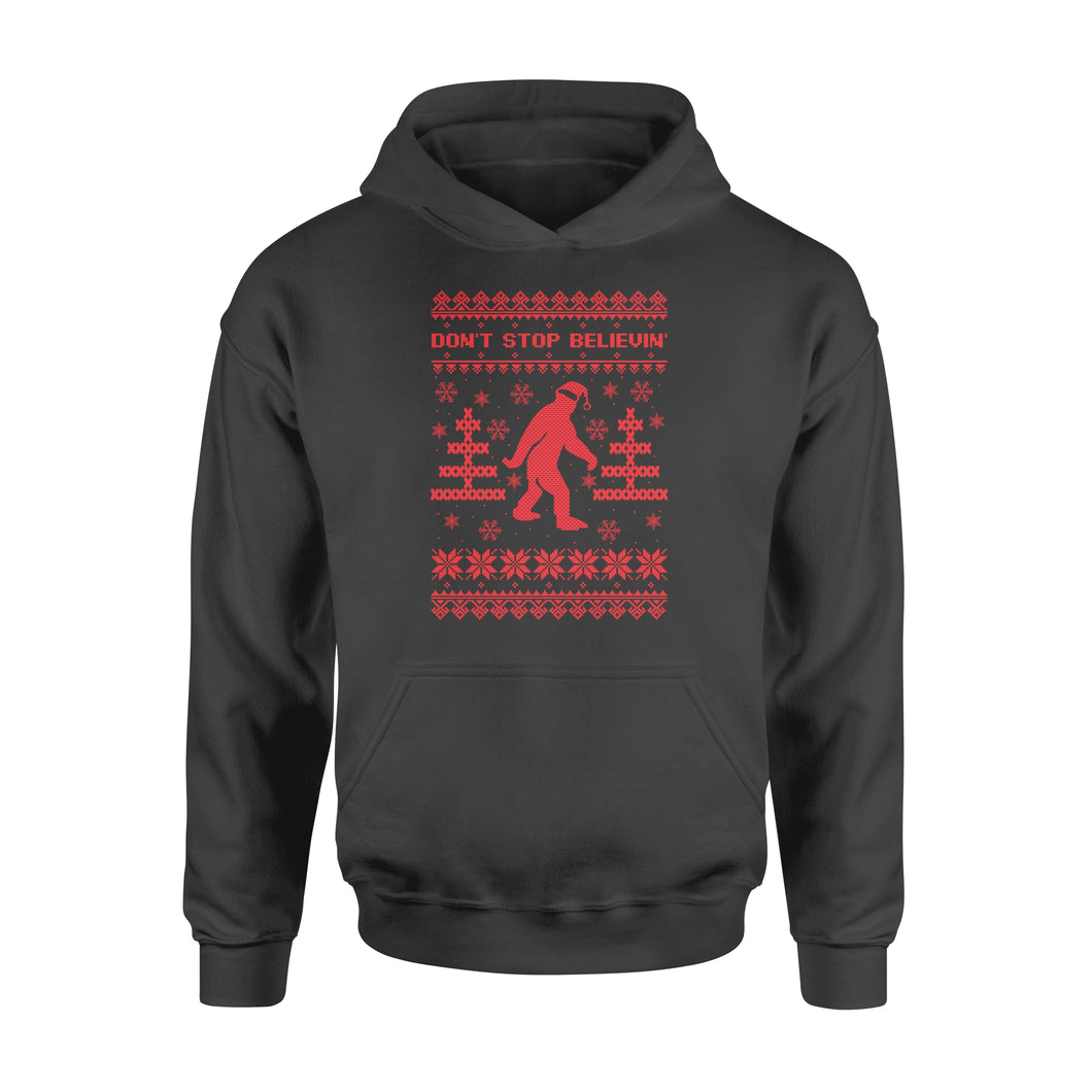Bigfoot Santa Don't Stop Believin' Christmas - Standard Hoodie