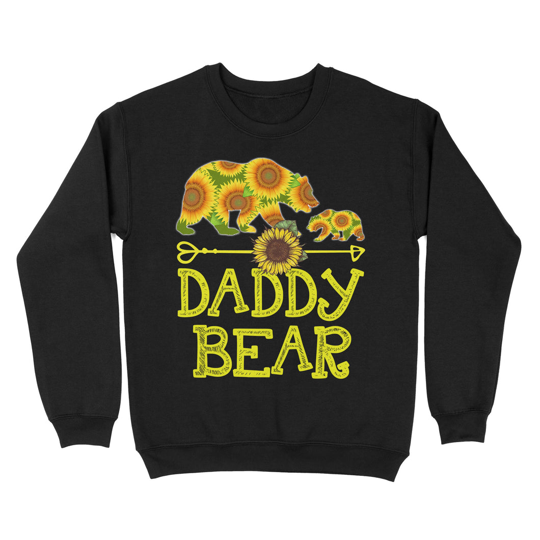 Daddy Bear Sunflower - Standard Crew Neck Sweatshirt