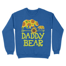 Load image into Gallery viewer, Daddy Bear Sunflower - Standard Crew Neck Sweatshirt