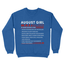 Load image into Gallery viewer, August Girl Facts - Standard Crew Neck Sweatshirt