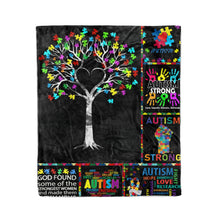 Load image into Gallery viewer, Autism Tree, Autism Strong Blanket - Fleece Blanket