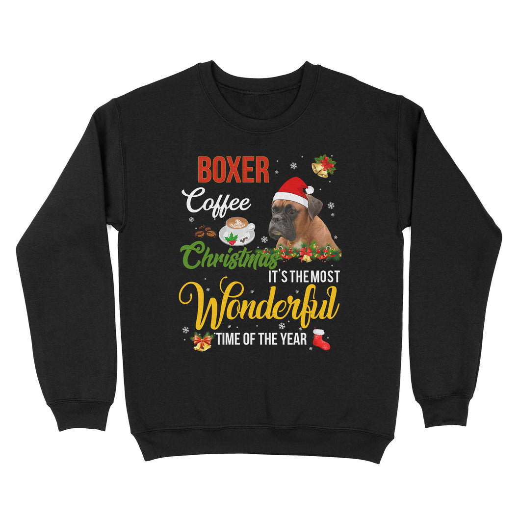 Boxer Coffee Christmas It's The Most Wonderful Time Of The Year - Standard Crew Neck Sweatshirt