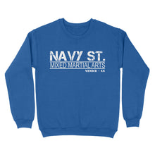 Load image into Gallery viewer, Navy St Mixed Martial Arts Venice. CA - Standard Crew Neck Sweatshirt