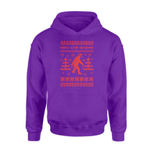 Load image into Gallery viewer, Bigfoot Santa Don't Stop Believin' Christmas - Standard Hoodie