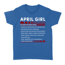 Load image into Gallery viewer, April Girl Facts - Standard Women's T-shirt