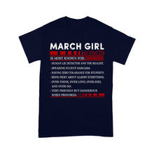 Load image into Gallery viewer, March Girl Facts - Standard T-shirt