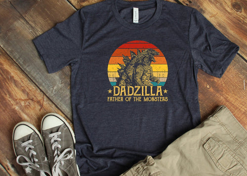 Dadzilla Father Of The Monsters Shirt-Unisex T-Shirt