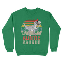 Load image into Gallery viewer, Vintage Auntie Saurus - Standard Crew Neck Sweatshirt