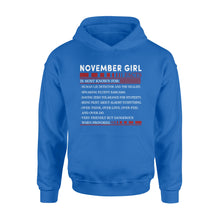 Load image into Gallery viewer, November Girl Facts - Standard Hoodie