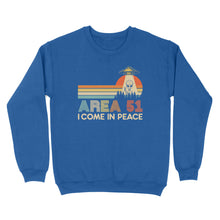 Load image into Gallery viewer, Area 51 I Come In Peace - Standard Crew Neck Sweatshirt