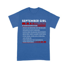 Load image into Gallery viewer, September Girl Facts - Standard T-shirt