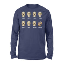 Load image into Gallery viewer, Liberal Skull, Skulls Of Modern America - Standard Long Sleeve