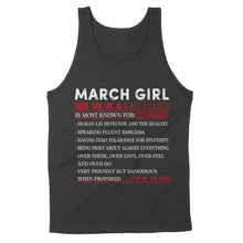 Load image into Gallery viewer, March Girl Facts - Standard Tank