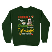 Load image into Gallery viewer, Bulldog Coffee Christmas It's The Most Wonderful Time Of The Year - Standard Crew Neck Sweatshirt