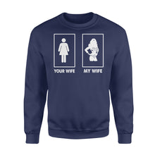 Load image into Gallery viewer, My Wife Your Wife Wonder Woman - Standard Crew Neck Sweatshirt