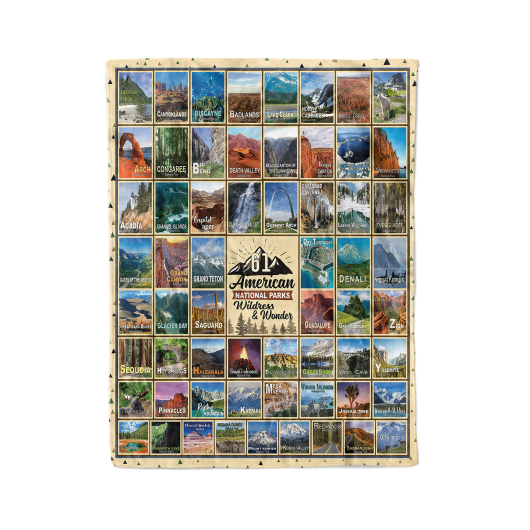 American National Parks Wildness & Wonder Blanket
